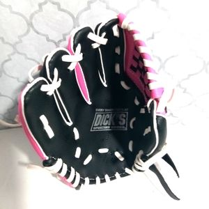Baseball glove girls size 6-8 color pink